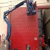 Manutenção de porta corta fogo modelo industrial